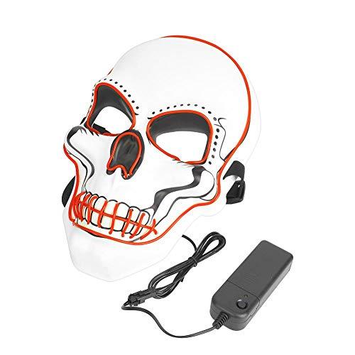QiruIXinXi Máscara de Halloween, payaso divertida y traviesa que brilla intensamente, para una variedad de formas faciales, perfecta para mascaradas de miedo máscara (rojo)