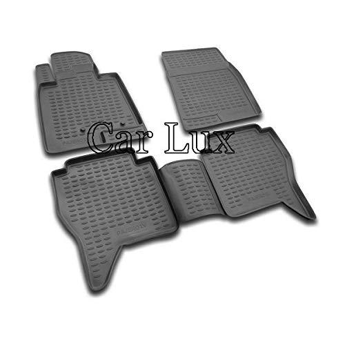 Car Lux AR01816 - Alfombras Alfombrillas de goma a medida 3D tipo cubeta para Montero