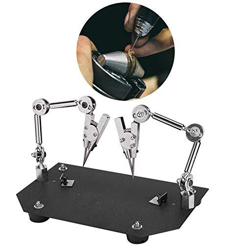 【𝐏𝐚𝐬𝐜𝐮𝐚】 Zouminyy Clip de accesorio de soldadura, clip de trabajo de soldadura auxiliar Abrazadera de clip de mesa de accesorio de soldadura de joyería para reparación de soldadura ✅