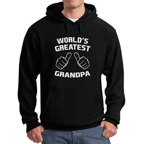 TeeStars Men's - World's Greatest Grandpa Hoodie X-Large Black