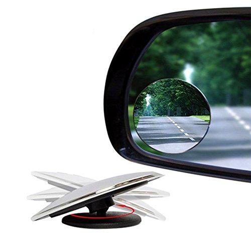 Ruikey round-shape Blind Spot Spiegel 360 ° drehbar Verstellbare Auto Weitwinkel KFZ Spiegel 50 mm 2 Stück