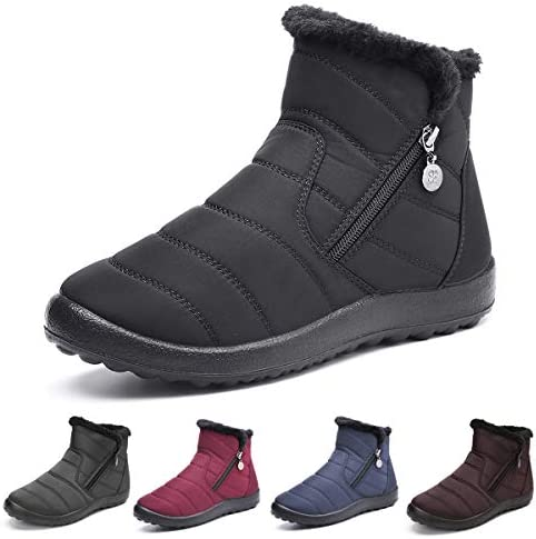 gracosy Warm Snow Boots Outdoor for Women Winter Fur Lining Shoes Anti Slip Lightweight Ankle product image