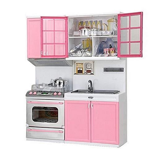 dailylime Cocinas De Juguete Para Niños De Sobremesa - Juego De Cocina Rosa Juguetes De Cocina De Plástico - Juegos De Imitación Mini Modern Kitchen Set - 27 X 9.5 X 34.5 CM sustainable helpful