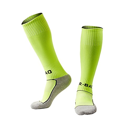 LITAO for Little Boys/Girls Outfits Compression Long Sport Soccer Socks (Kids/Youth Gifts) (Green)
