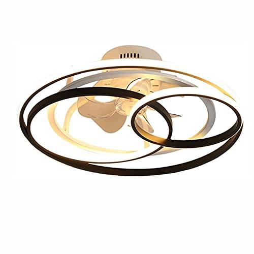 JZlamp Ventiladores de Techo LED Modernos, con iluminación de Ventilador de Techo Ligero Ajustable, Brillo Ajustable, Velocidad de Viento Ajustable de la lámpara de Techo Ultra silenciosa