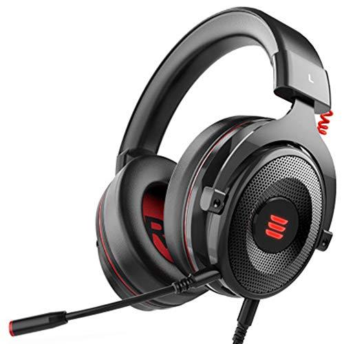 DIDIOI Casque de Jeu, Virtual Surround 7.1 Gaming Headset Over-Ear exite Mic LED pour Xbox/PC / PS4 / Téléphone / PS3 / PC