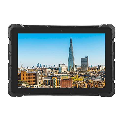 Deansh Tableta Impermeable, 10.1 Pulgadas para Intel Z8350-RK3399, para Sistema Win10, Tableta de Grado Industrial de Tres Pruebas 6 + 64G 110-240V(Enchufe de la UE)