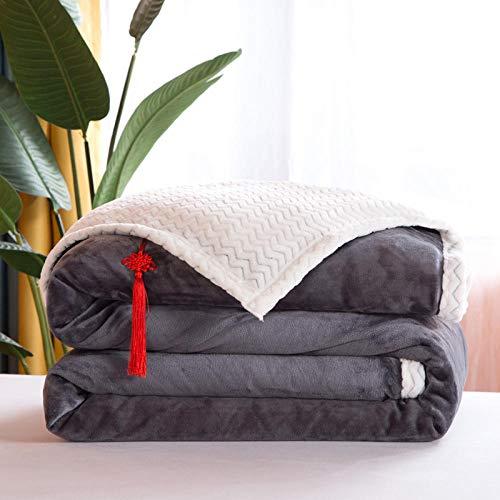 B/H Mantas para Cama,Manta cálida Gruesa de Doble Capa, Manta de sofá Ligera y cómoda-M_200 * 230cm,Suave y acogedora Manta de Peluche