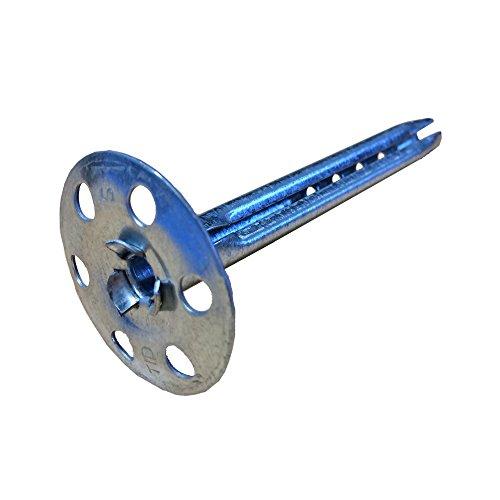 SBS Tellerdübel | 8 x 60 mm | 20 Stück | Schlagdübel | Dämmdübel | Metall-Teller-Dübel Metall-Dämmstoffhalter