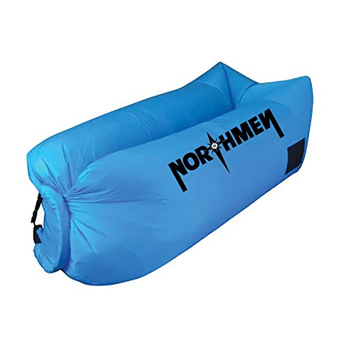 Northmen Inflatable Lounger Air Sofa Hammock-Portable,Water Proof& Anti-Air Leaking Design-Ideal Couch for Backyard Lakeside Beach Traveling Camping Picnics & Festivals (Baby Blue)