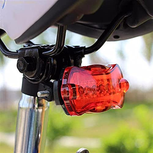 LUBINGT Luz Trasera Bici 2021 Nuevo Deporte al Aire Libre Bicicleta Bicicleta Ciclismo 5 LED Tail Trasero Flash Light Lámpara Roja con Monte Dropshipping # 50 (Color : Black)