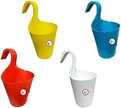 Khoji Glory Hook Pot for Railings/Railing Flower Pot - Set of 4