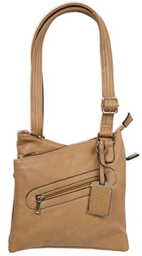Bulldog Cases Cross Body Style Purse with Holster, Tan, Medium