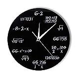 TUDUDU Números De Ingeniería Matemáticas Reloj De Pared Matemáticas Ecuación Decorativa Reloj Pop Quiz Wall Arte Ciencia Regalo para Los Frikis De Matemáticas Y Profesores