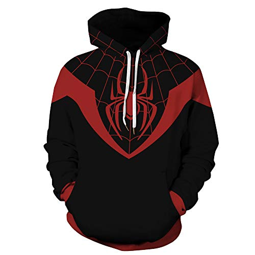TAKUSHI HF Unisex Fashion Galaxy 3D Digital Printed Pullover Hoodies Hooded Sweatshirts for Sport and Party (Spiderman7, 2XL/3XL)