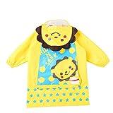 Regenmantel Wasserdicht Kinderregenmantel, Junge, Mädchen Atmungsaktiver Babyponcho mit Taschenregenmantel Gute Qualität (Color : Yellow, Size : M)