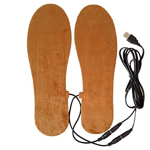 Haihuic Heizbare Einlegesohlen, Sohlenwärmer, Fußwärmer, Einlegesohlen, Schuhheizung, Thermosohlen, Einlegesohlen mit USB, wiederaufladbar, Größe 39-44, Kann zugeschnitten Werden