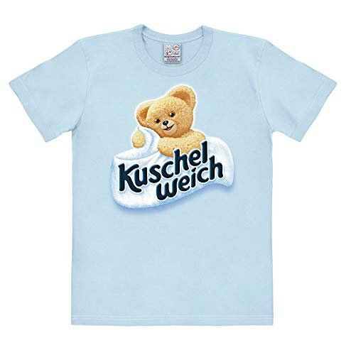 Logoshirt Kuschelweich Logo - Bär T-Shirt Herren - hellblau - Lizenziertes Originaldesign, Größe XS