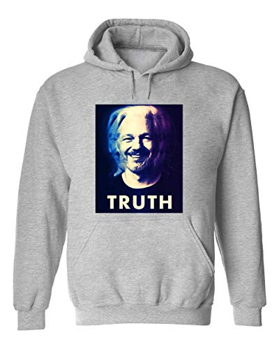 George Graphics Julian Assange Truth Unisex trui met capuchon