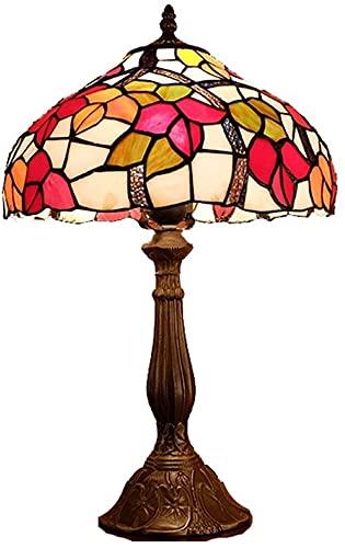 BoMiVa Lámpara de Mesa Lámpara de Mesa Creativa Retro de Estilo Europeo, lámpara de Mesa de Noche de Estilo de Vidrio led para Dormitorio, lámpara de Mesa 30 * 50 cm
