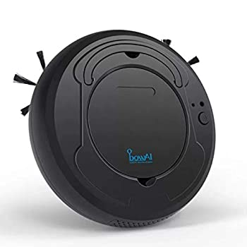 SANON Robot Vacuum Cleaner 3-in-1 Sweeping & Mopping & Dust Vacuum Machine 1800Pa Strong Suction Carpet and All Floor Types  Black