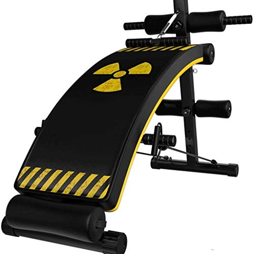 Review DEJA Sit-up Board,Adjustable Incline Weight Bench Curved Sit Up Bench Board Full Body Gym Wei...