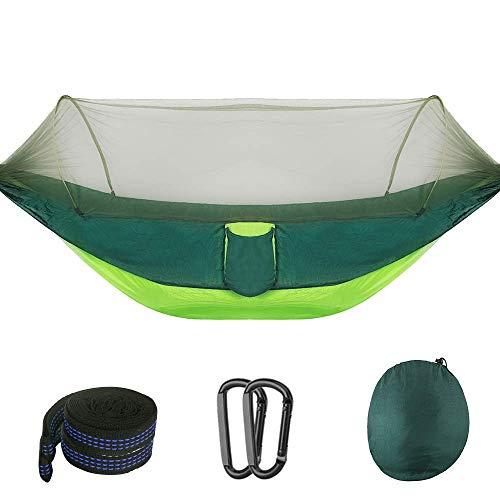 Karanice Ultraleicht Hängematte mit Moskitonetz 300kg Tragfähigkeit Camping Hängematten Atmungsaktiv schnell trocknende (290 x 140 cm) für Outdoor Reisen Garten