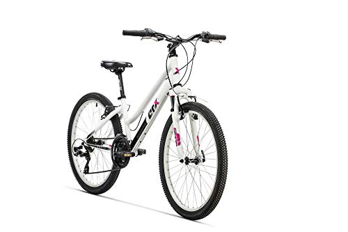 "AFX Bicicleta MTB Junior 24"" Rohan, Color blanco"