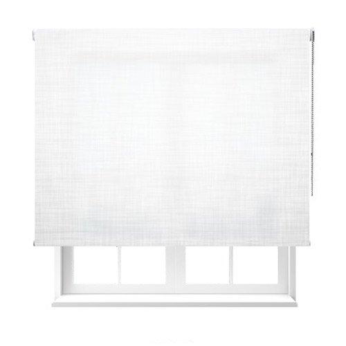 Estoralia - Estor enrollable de color blanco semiopaco. Medidas: 60x100