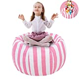 UMYMAYDO1 38' Stofftier Kuscheltiere Aufbewahrung Aufbewahrungstasche Sitzsack Kinder Soft Pouch Stoff Stuhl (Pink)