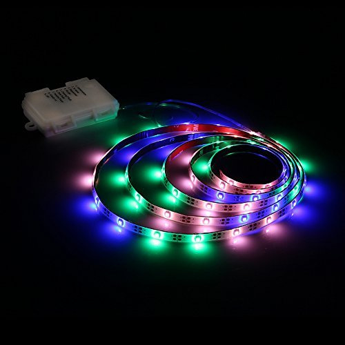 LED Strip Lights Battery Powered Zanflare PGB 2M/656FT 8 Light Modes LED Light Strip with Remote IP65 Waterproof SMD 3528 60 LEDs DC 45V LED TV Light Christmas New Year Decoration lights