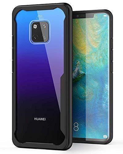 ORETECH Huawei Mate 20 Pro Hülle, Huawei Mate 20 Pro HandyhülleUltra Dünn TransparentHart-PC und TPU SilikonHandyhülleScratch-Stoßfest Stoßstange Schutzhülle Hüllen Huawei Mate 20 Pro 5.8''-Schwarz