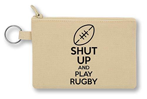 Shut Up and Play Rugby Geldbörse mit Reißverschluss