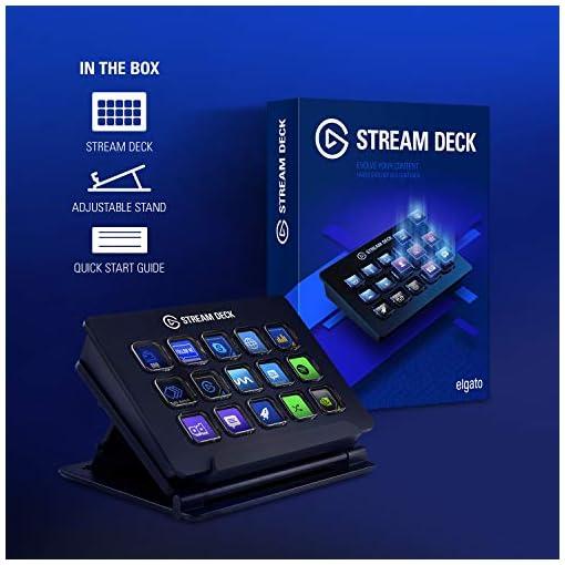 elgato Stream Deck - Controlador para contenido en directo, 15 teclas LCD personalizables, soporte ajustable, Windows 10… 7