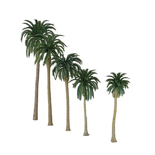 10pcs árboles Verdes Palmeras De Coco Modelo 1/65 16cm