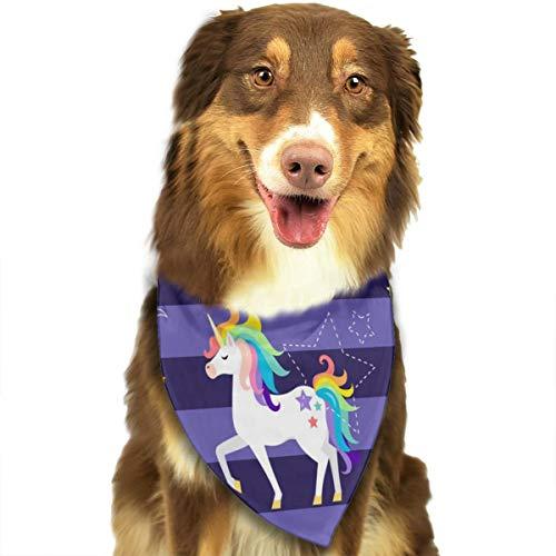 Sitear-Vektor mit Einhörnern, Regenbogen-Sternbild, Halstuch-Set für Hunde und Katzen, Dreieckstuch