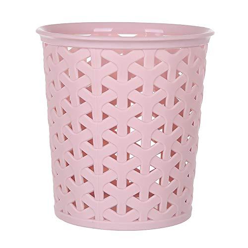 Lumanuby. 1 boîte de rangement en plastique pour stylos et pinceaux à dents, design creux, tube de rangement pour crayons, cosmétiques, maquillage, bureau (rose)