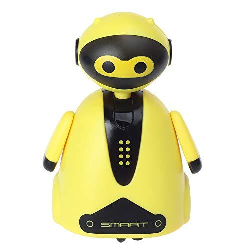 Luccase Induktives Autos Roboter Spielzeug Folgen Markierungslinie Linie Zauberstift Niedlichen Induktive Roboter Modell Kinder Spielzeug Geschenk (Gelb)