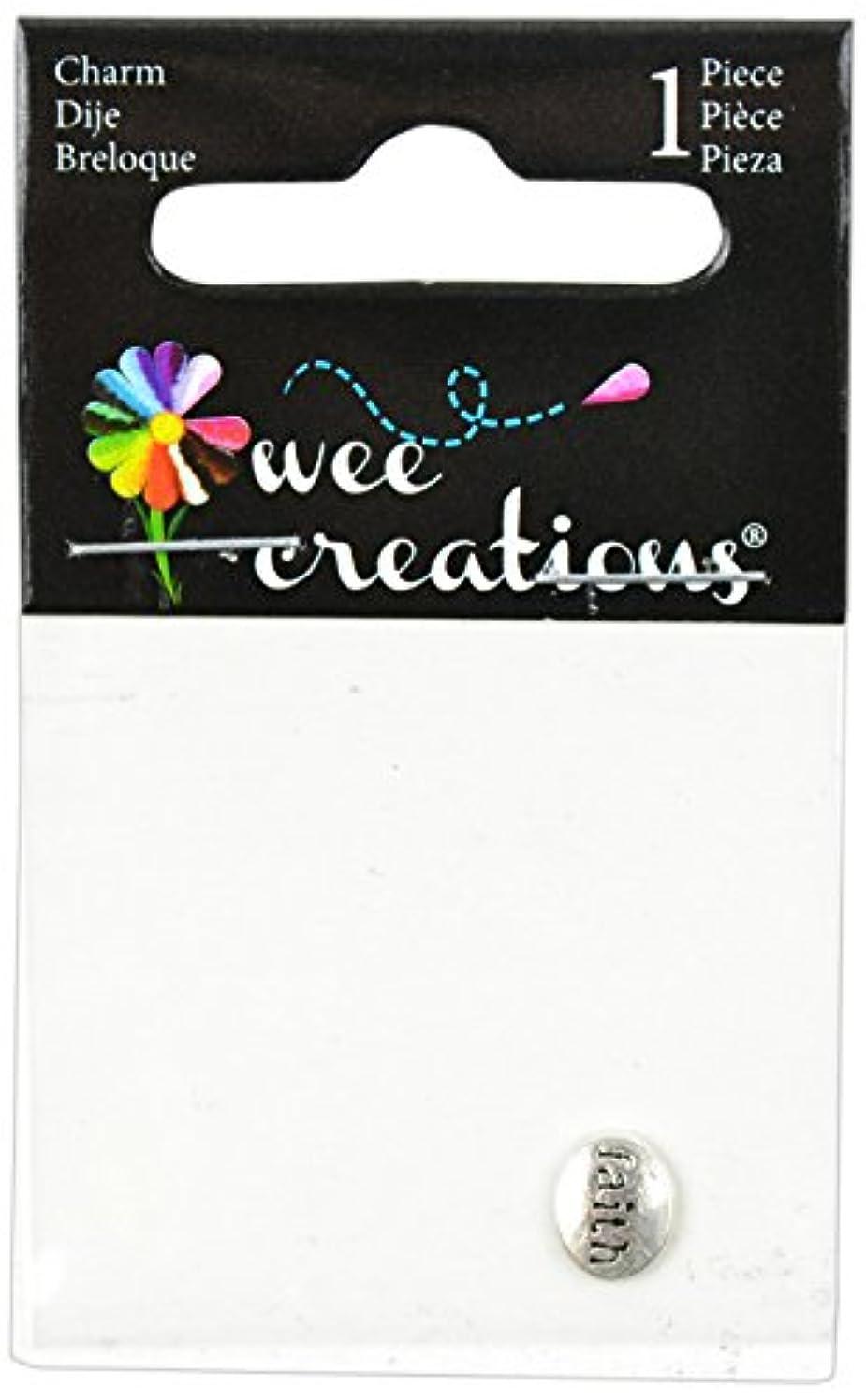 Wee Creations 1-Piece Faith Charm, Silver