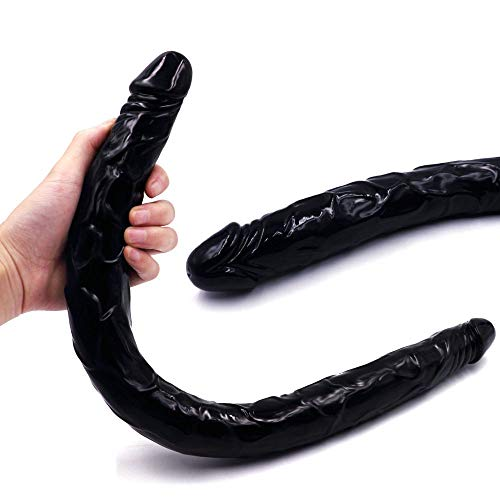 Super Soft TPE Double Sided Ended Headed Penetration for Lèsbǐans Full of Layering Toys 21.56 Inches Realistic Model