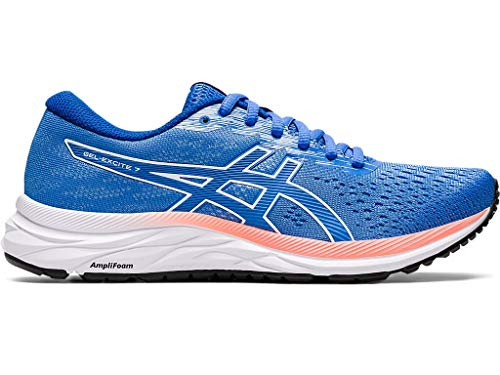 ASICS Women's Gel-Excite 7 Running Shoes, 8M, Blue Coast/White