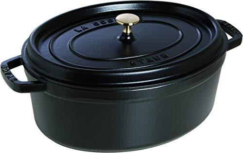 STAUB Cocotte en Fonte, Ovale 33 cm, 6,7 L, Noir