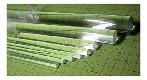 "12 Pcs 1 4"" Diameter 18"" Long Clear Acrylic Plexiglass Lucite Plastic Rod .25"