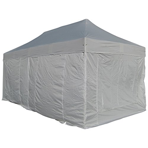 6x3m ALU Professional Folding tent Market stand 50mm Hex with metal joints and FIRE-RESISTANT tarpaulins