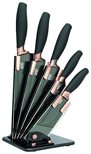 Taylor's Eye Witness - Set di 5 coltelli da cucina Brooklyn, in rame, con supporto per coltelli, multicolore, taglia unica