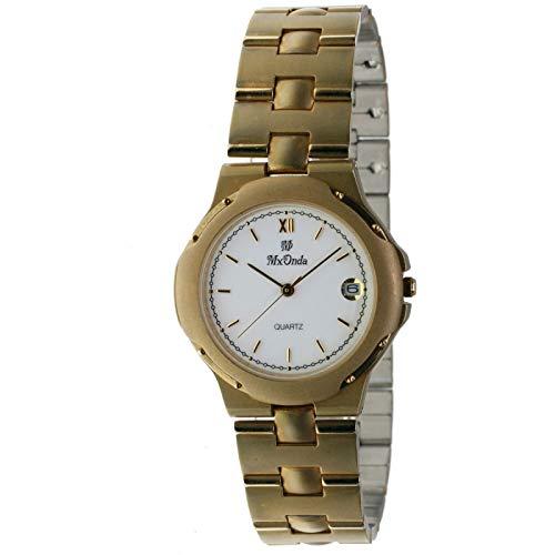 MX-Onda Mod. 00977 - Reloj analógico de Cuarzo Unisex (Mujer/homre/cadete) con Calendario. Diámetro Caja: 33 mm