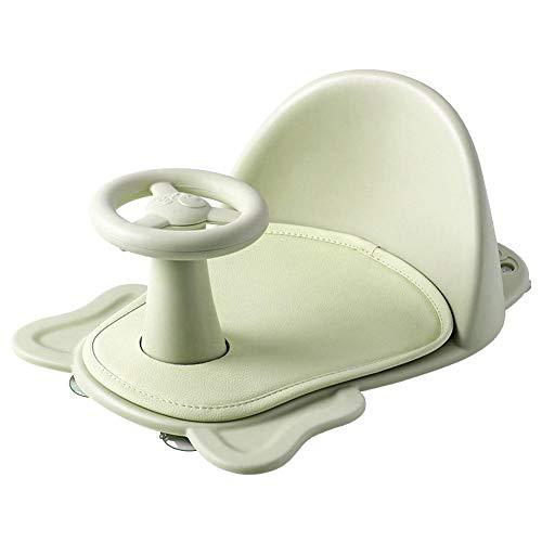Rethyrel - Taburete de baño para bebé, silla de baño antideslizante con diseño de elefante, de dibujos animados