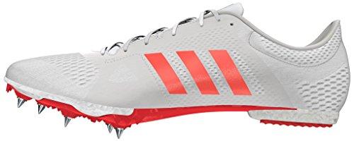 adidas Unisex-Erwachsene Adizero Middle-Distance Leichtathletikschuhe, Weiß (Ftw White/Solar Red/Silver Metallic), 42 2/3 EU