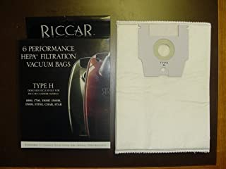 Genuine Riccar Type H Hepa Filtration Vacuum Cleaner Bags (6 pack)
