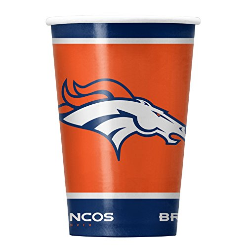 NFL Denver Broncos Disposable Paper Cups, Pack of 20